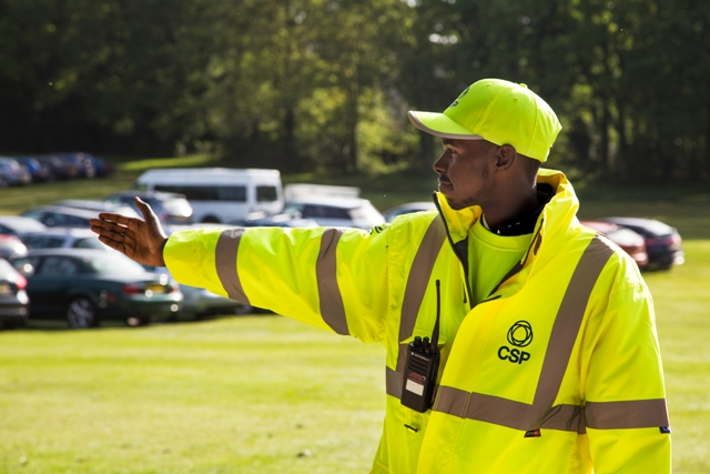 Our friendly marshal directing vehicles