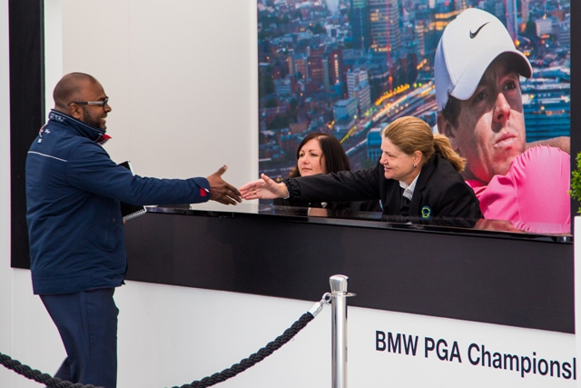 Ticket Collection desk at the PGA BMW Championship